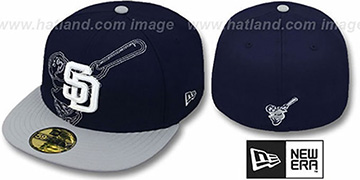 Padres 'NEW MIXIN' Navy-Grey Fitted Hat by New Era