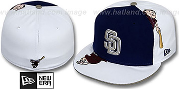 Padres 'ORLANTIC-3' Navy-White Fitted Hat by New Era