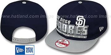 Padres SLICE-N-DICE SNAPBACK Navy-Grey Hat by New Era