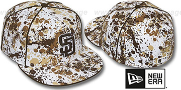 Padres SPLATTER White-Brown Fitted Hat by New Era