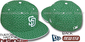 Padres 'ST PATS FLOCKING' Kelly Fitted Hat by New Era