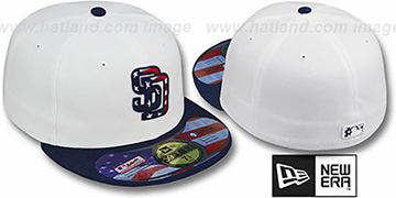 Padres 'STARS N STRIPES' White-Navy Hat by New Era
