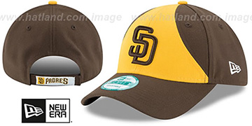 Padres THE-LEAGUE STRAPBACK ALT-2 Gold-Brown Hat by New Era