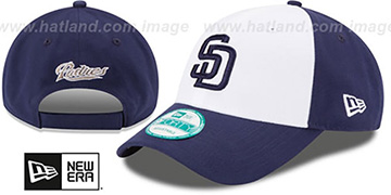 Padres THE-LEAGUE STRAPBACK White-Navy Hat by New Era