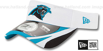 Panthers '2014 NFL TRAINING' White Visor by New Era