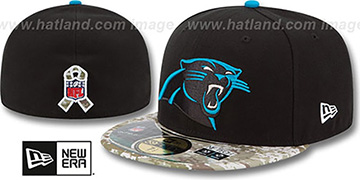 Panthers '2014 SALUTE-TO-SERVICE' Black-Desert Fitted Hat by New Era
