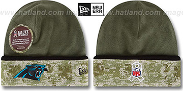 Panthers '2014 SALUTE-TO-SERVICE' Knit Beanie Hat by New Era