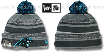 Panthers '2014 STADIUM' Grey-Grey Knit Beanie Hat by New Era