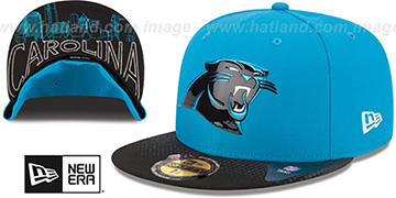 Panthers '2015 NFL DRAFT' Blue-Black Fitted Hat by New Era