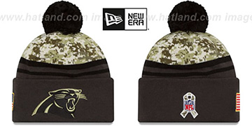 Panthers '2016 SALUTE-TO-SERVICE' Knit Beanie Hat by New Era
