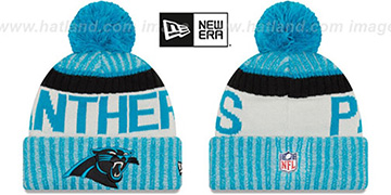 Panthers 2017 STADIUM BEANIE Blue Knit Hat by New Era