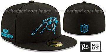 Panthers 2020 NFL VIRTUAL DRAFT Black Fitted Hat by New Era