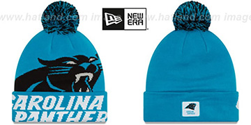 Panthers COLOSSAL-TEAM Blue Knit Beanie Hat by New Era