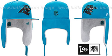 Panthers 'FLURRY-FIT DOGEAR' Blue Fitted Hat by New Era