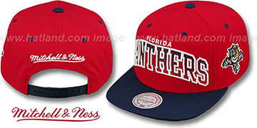 Panthers 'GRADIANT-ARCH SNAPBACK' Red-Navy Hat by Mitchell & Ness