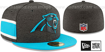 Panthers HOME ONFIELD STADIUM Black-Blue Fitted Hat by New Era