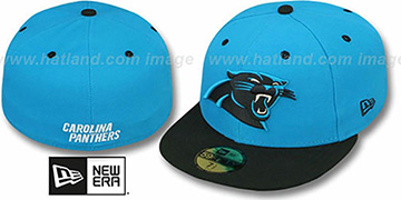 Panthers 'NFL 2T-TEAM-BASIC' Blue-Black Fitted Hat by New Era