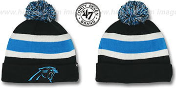 Panthers 'NFL BREAKAWAY' Black Knit Beanie Hat by 47 Brand
