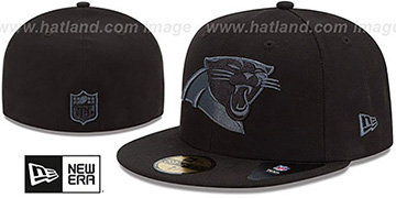 Panthers 'NFL FADEOUT-BASIC' Black Fitted Hat by New Era