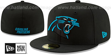 Panthers NFL TEAM-BASIC Black Fitted Hat by New Era