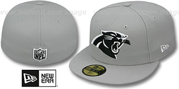 Panthers 'NFL TEAM-BASIC' Grey-White Fitted Hat by New Era