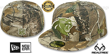 Panthers 'NFL TEAM-BASIC' Realtree Camo Fitted Hat by New Era
