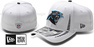 Panthers 'NFL TRAINING FLEX' White Hat by New Era