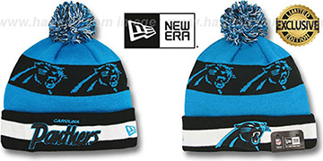 Panthers 'REPEATER SCRIPT' Knit Beanie Hat by New Era