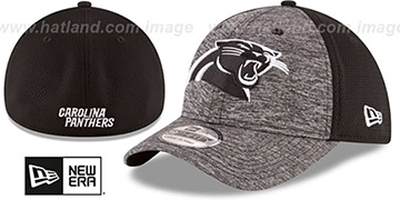 Panthers SHADOWED FLEX Grey-Black Hat by New Era