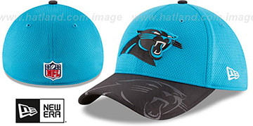 Panthers STADIUM TRAINING FLEX Blue-Black Hat by New Era