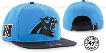Panthers 'SUPER-SHOT STRAPBACK' Blue-Black Hat by Twins 47 Brand