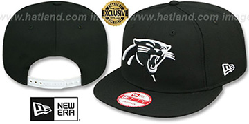 Panthers TEAM-BASIC SNAPBACK Black-White Hat by New Era