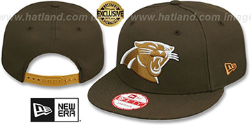 Panthers TEAM-BASIC SNAPBACK Brown-Wheat Hat by New Era