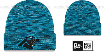 Panthers TEAM-CRAZE Blue-Black Knit Beanie Hat by New Era