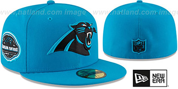 Panthers TEAM-SUPERB Blue Fitted Hat by New Era
