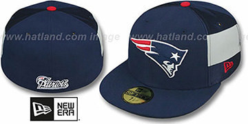Patriots  NFL JERSEY-STRIPE Navy Fitted Hat by New Era
