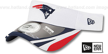 Patriots '2014 NFL TRAINING' White Visor by New Era