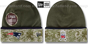 Patriots '2014 SALUTE-TO-SERVICE' Knit Beanie Hat by New Era