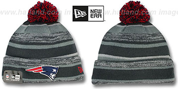 Patriots '2014 STADIUM' Grey-Grey Knit Beanie Hat by New Era
