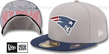 Patriots '2015 NFL DRAFT' Grey-Navy Fitted Hat by New Era