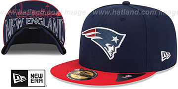 Patriots '2015 NFL DRAFT' Navy-Red Fitted Hat by New Era