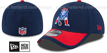 Patriots '2015 NFL THROWBACK STADIUM FLEX' Navy-Red Hat by New Era