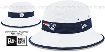 Patriots '2015 NFL TRAINING BUCKET' White Hat by New Era