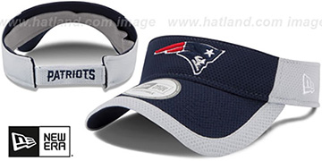 Patriots '2015 NFL TRAINING VISOR' Navy-Grey by New Era