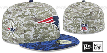 Patriots '2015 SALUTE-TO-SERVICE' Desert-Navy Fitted Hat by New Era