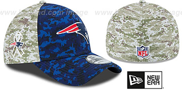 Patriots '2015 SALUTE-TO-SERVICE' Desert-Navy Flex Hat by New Era