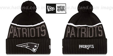 Patriots '2015 STADIUM' Black-White Knit Beanie Hat by New Era