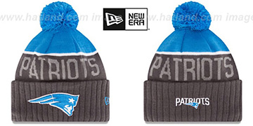 Patriots '2015 STADIUM' Charcoal-Blue Knit Beanie Hat by New Era