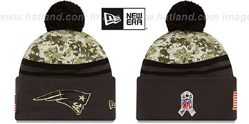 Patriots '2016 SALUTE-TO-SERVICE' Knit Beanie Hat by New Era