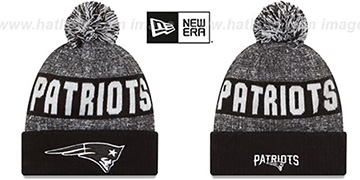 Patriots '2016 STADIUM' Black-White Knit Beanie Hat by New Era